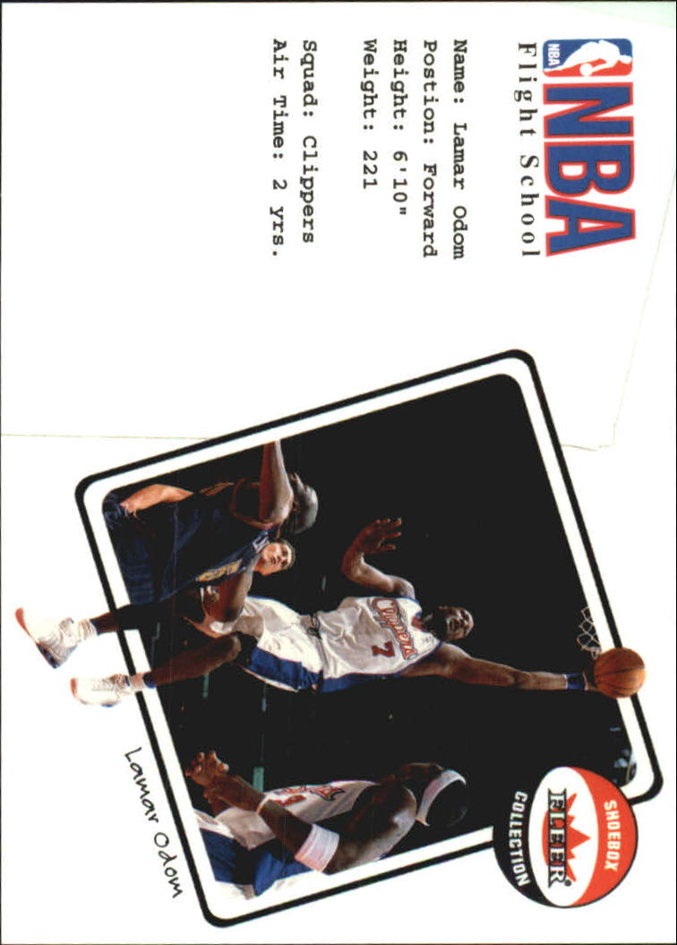 2001-02 Fleer Shoebox NBA Flight School #9 Lamar Odom