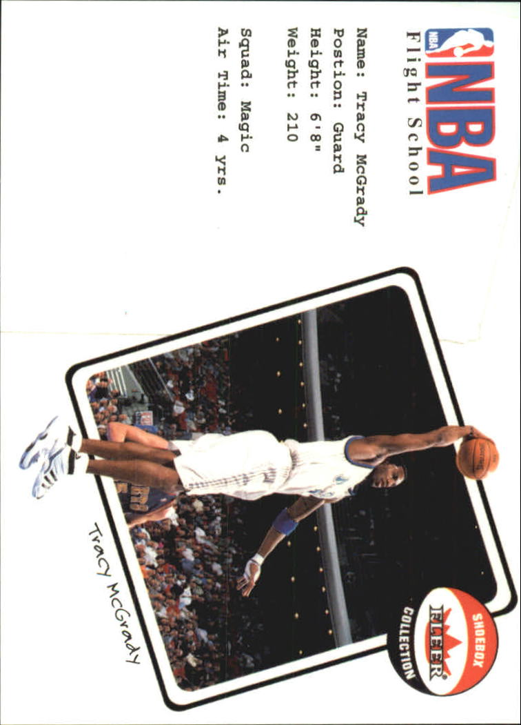 2001-02 Fleer Shoebox NBA Flight School #12 Tracy McGrady
