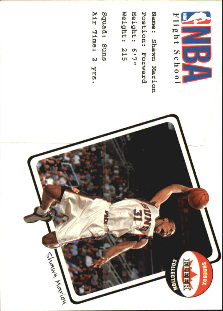 2001-02 Fleer Shoebox NBA Flight School #13 Shawn Marion
