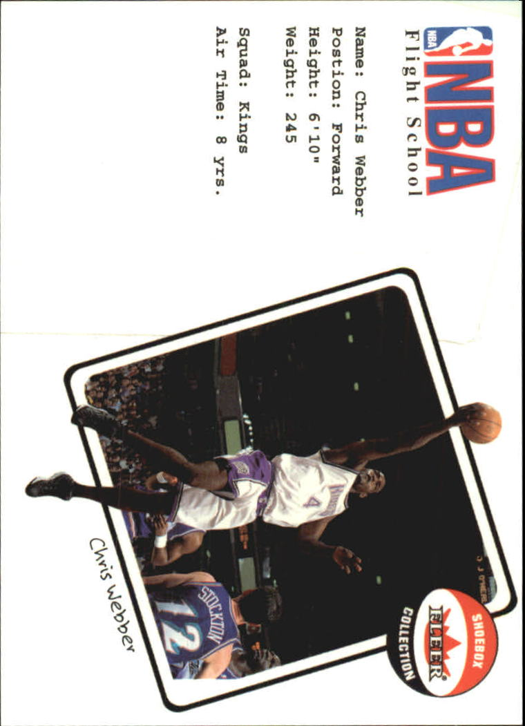 2001-02 Fleer Shoebox NBA Flight School #14 Chris Webber