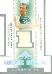 2001-02 Fleer Marquee We&#039;re Number One Memorabilia #8 Larry Bird