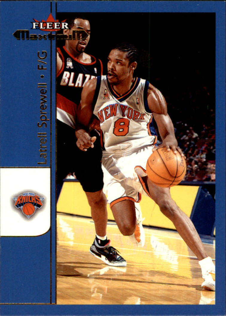 2001-02 Fleer Maximum #6 Latrell Sprewell
