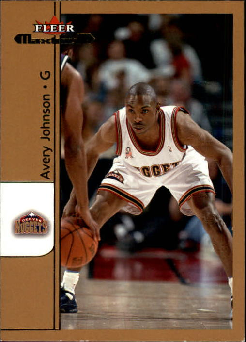2001-02 Fleer Maximum #18 Avery Johnson