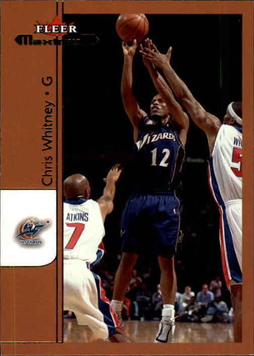 2001-02 Fleer Maximum #22 Chris Whitney