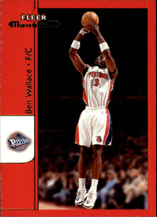 2001-02 Fleer Maximum #28 Ben Wallace
