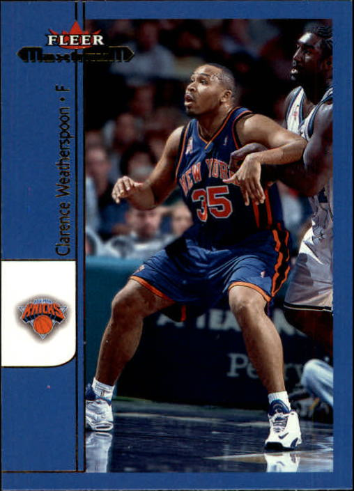 2001-02 Fleer Maximum #36 Clarence Weatherspoon