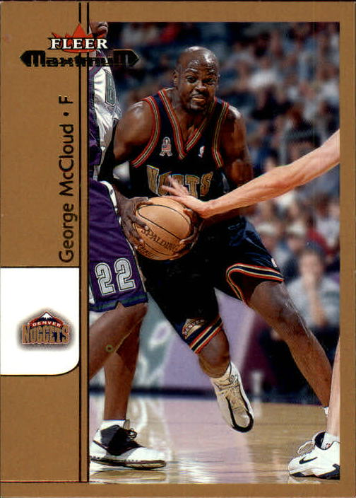 2001-02 Fleer Maximum #37 George McCloud