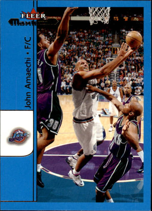 2001-02 Fleer Maximum #41 John Amaechi
