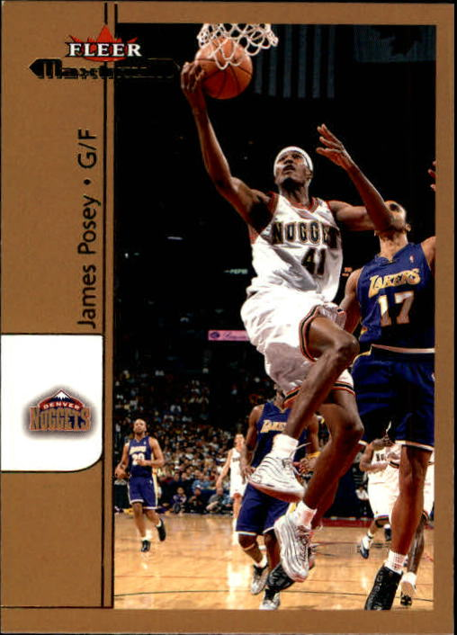 2001-02 Fleer Maximum #58 James Posey