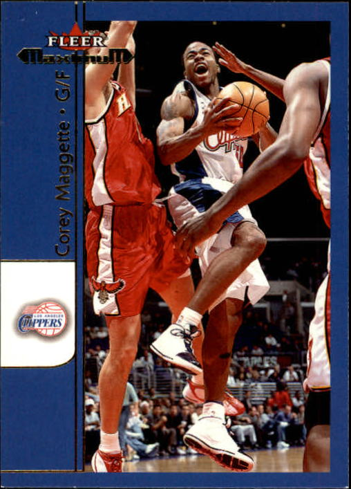 2001-02 Fleer Maximum #63 Corey Maggette