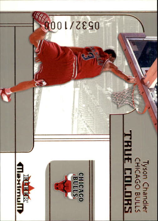 2001-02 Fleer Maximum #219 Tyson Chandler TC RC