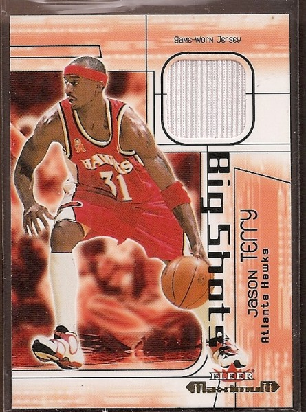 2001-02 Fleer Maximum Big Shots Jerseys #4 Jason Terry