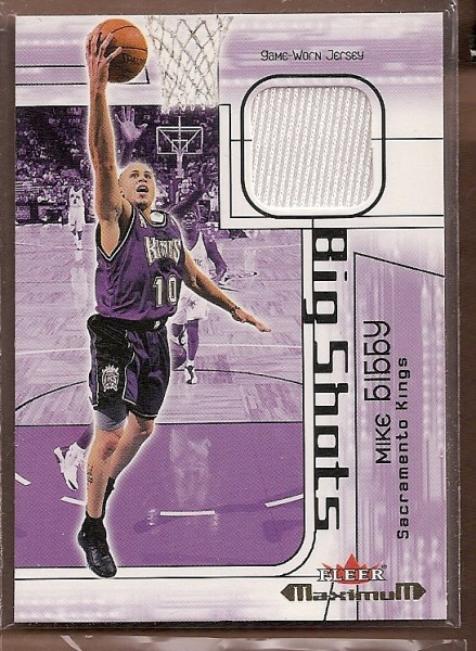 2001-02 Fleer Maximum Big Shots Jerseys #5 Mike Bibby