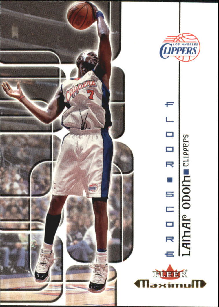 2001-02 Fleer Maximum Floor Score #2 Lamar Odom