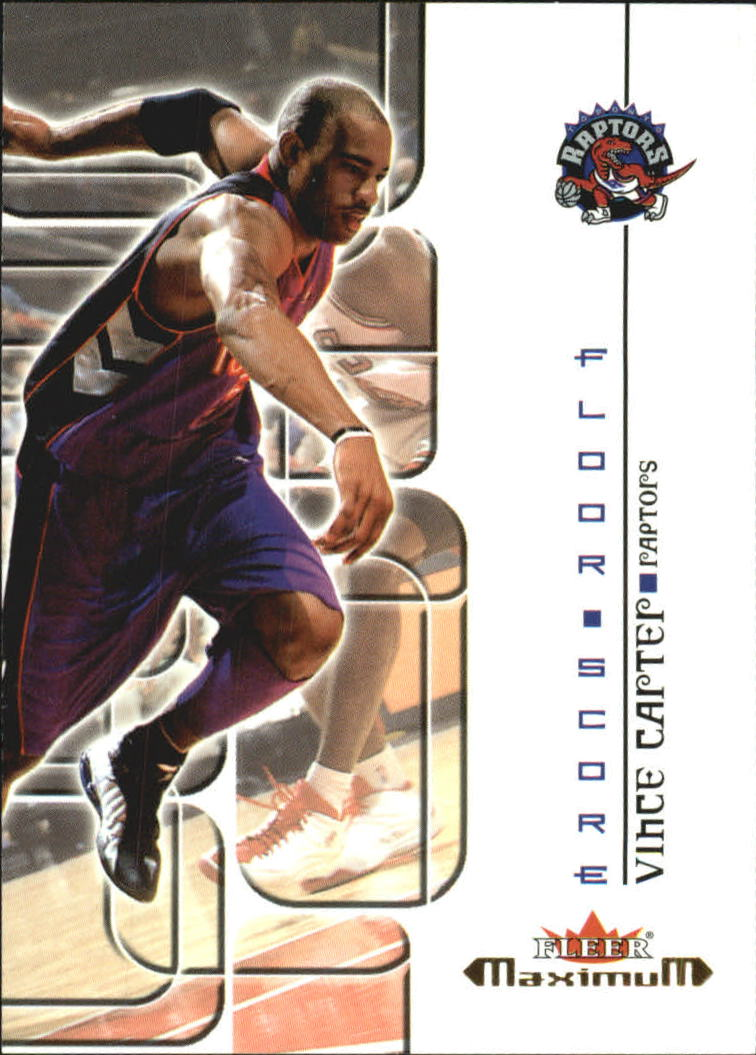 2001-02 Fleer Maximum Floor Score #10 Vince Carter