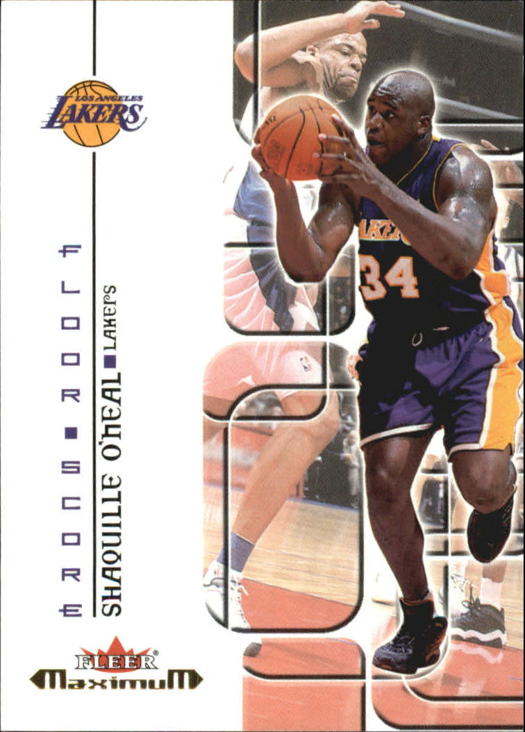 2001-02 Fleer Maximum Floor Score #11 Shaquille O'Neal