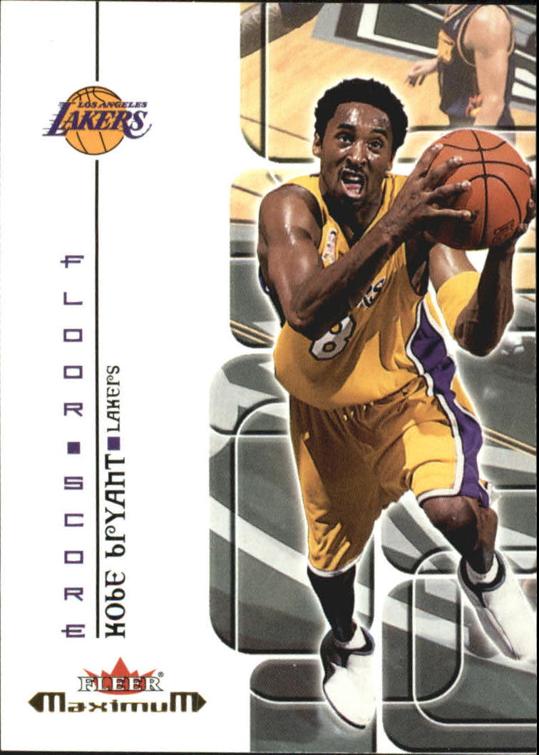 2001-02 Fleer Maximum Floor Score #13 Kobe Bryant