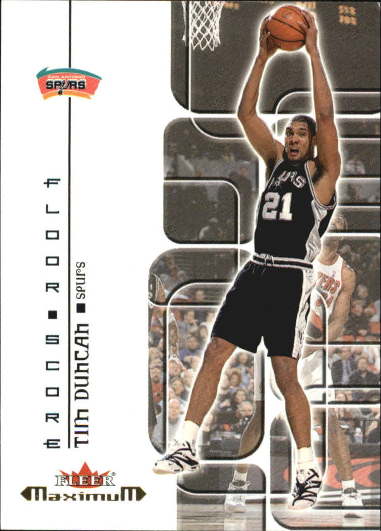 2001-02 Fleer Maximum Floor Score #15 Tim Duncan