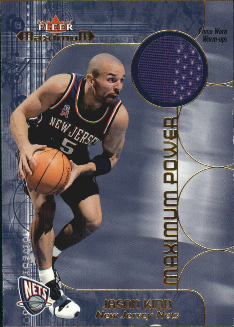 2001-02 Fleer Maximum Power Warm-Ups #1 Jason Kidd