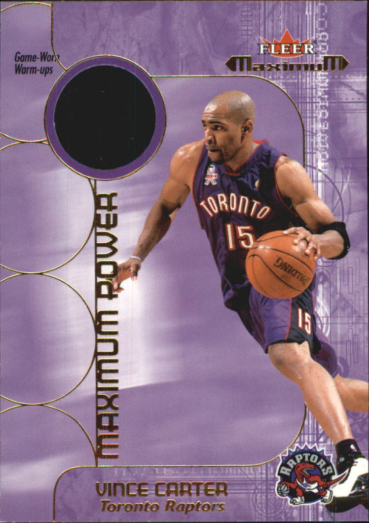 2001-02 Fleer Maximum Power Warm-Ups #3 Vince Carter