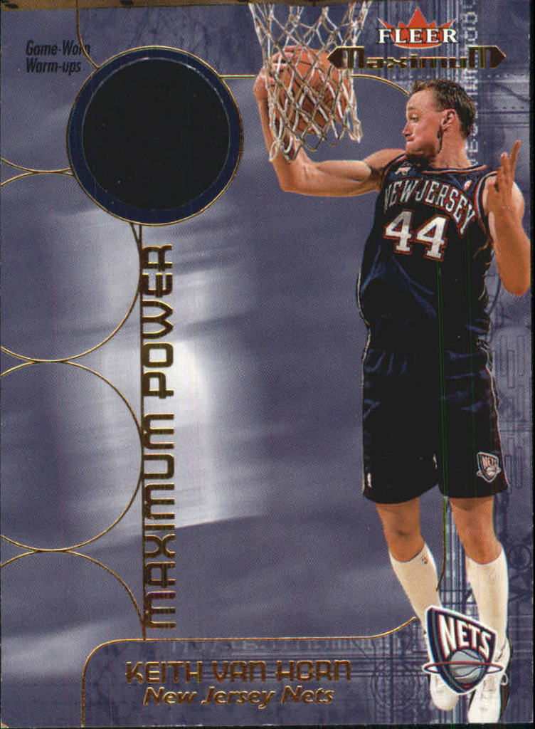 2001-02 Fleer Maximum Power Warm-Ups #8 Keith Van Horn