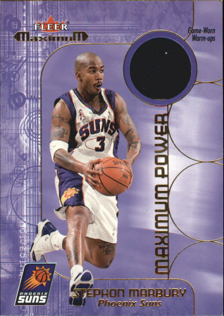 2001-02 Fleer Maximum Power Warm-Ups #9 Stephon Marbury