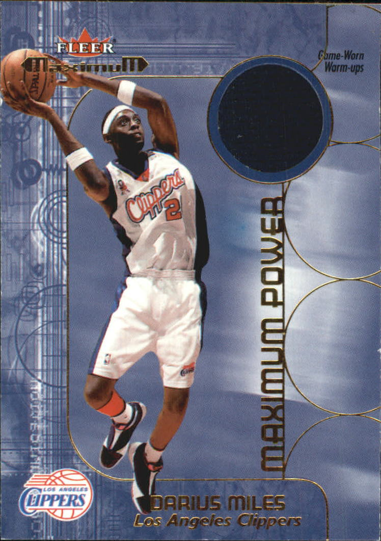 2001-02 Fleer Maximum Power Warm-Ups #10 Darius Miles