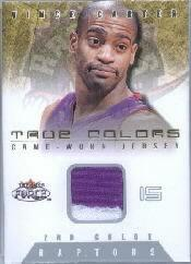 2001-02 Fleer Force True Colors Jerseys Two Color #1 Vince Carter
