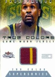 2001-02 Fleer Force True Colors Jerseys Two Color #14 Gary Payton