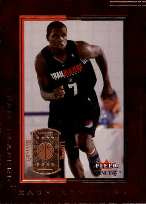2001-02 Fleer Genuine #132 Zach Randolph RC