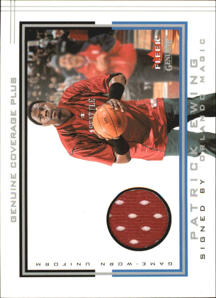 2001-02 Fleer Genuine Coverage Plus #7 Patrick Ewing
