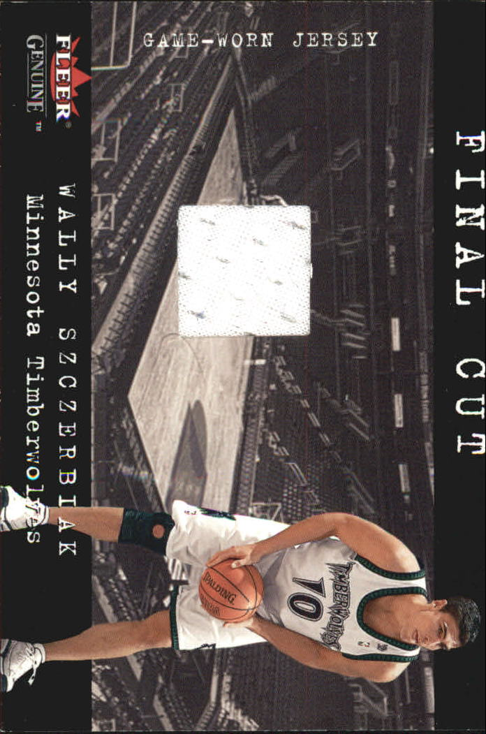 2001-02 Fleer Genuine Final Cut #30 Wally Szczerbiak
