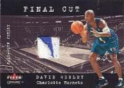 2001-02 Fleer Genuine Final Cut #34 David Wesley