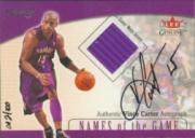 2001-02 Fleer Genuine Names of the Game #2 Vince Carter