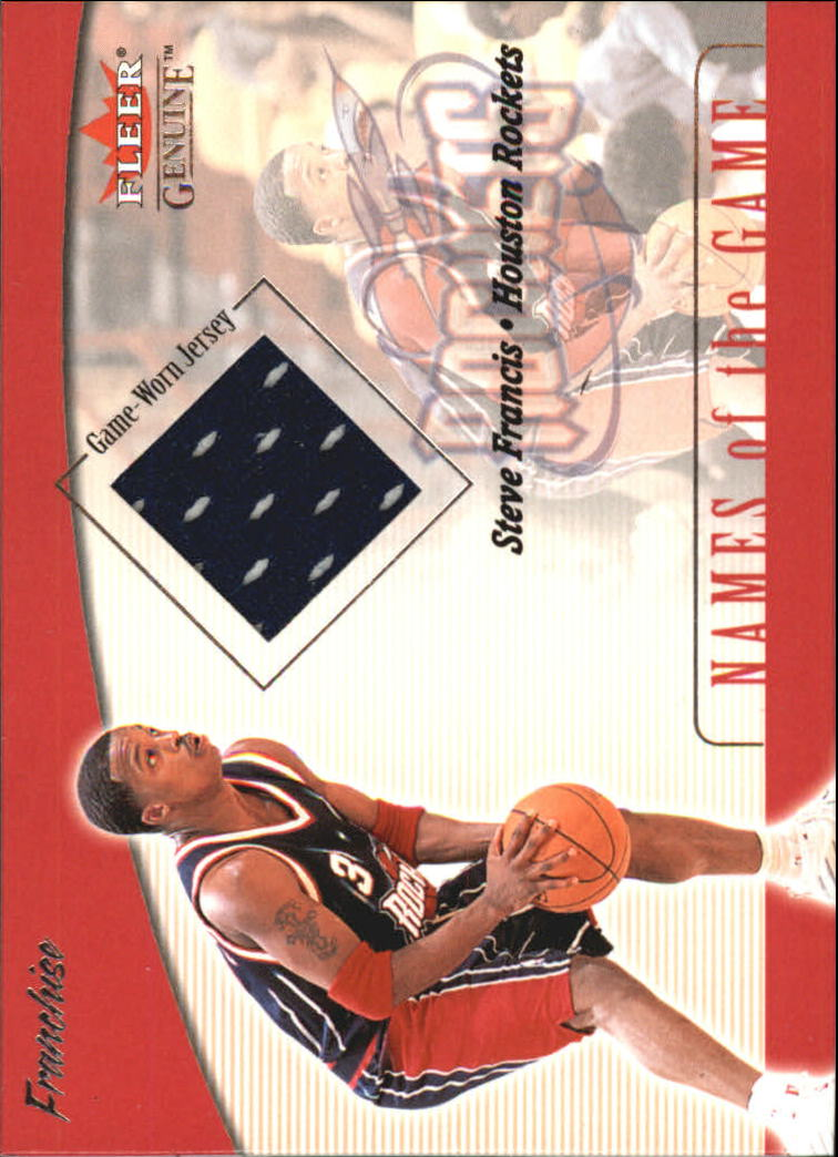 2001-02 Fleer Genuine Names of the Game #3 Steve Francis
