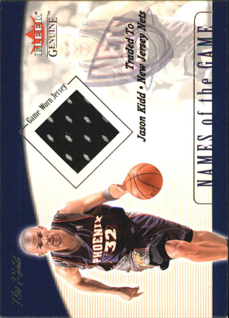 2001-02 Fleer Genuine Names of the Game #6 Jason Kidd