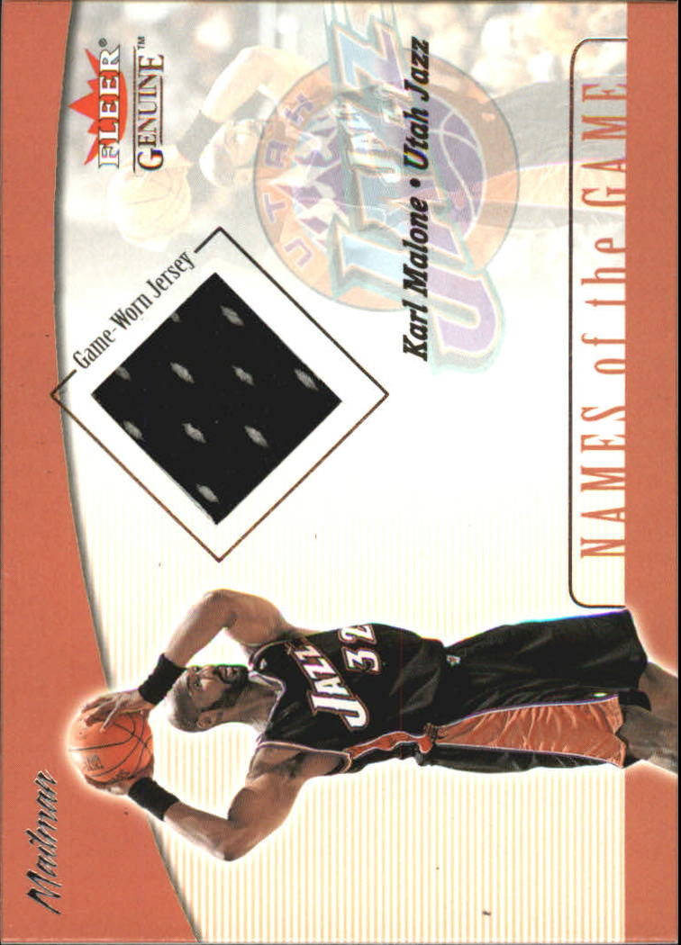 2001-02 Fleer Genuine Names of the Game #7 Karl Malone