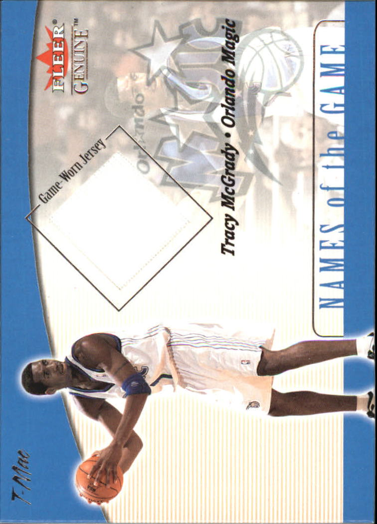 2001-02 Fleer Genuine Names of the Game #8 Tracy McGrady