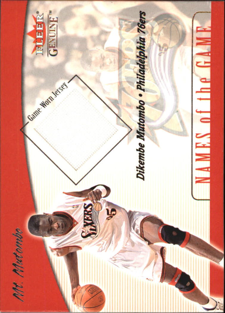 2001-02 Fleer Genuine Names of the Game #9 Dikembe Mutombo