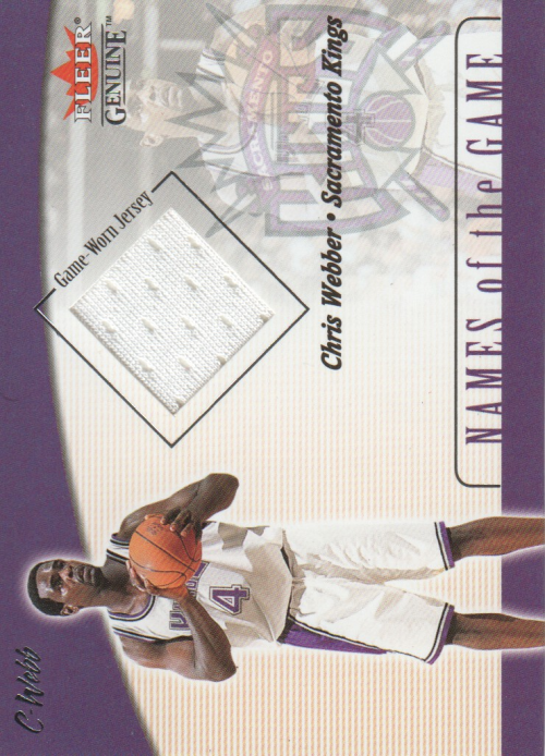 2001-02 Fleer Genuine Names of the Game #15 Chris Webber