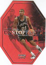 2001-02 Fleer Genuine Unstoppable #US5 Tim Duncan