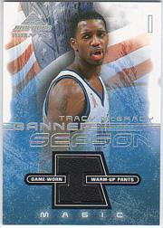 2001-02 Fleer Marquee Banner Season Memorabilia #TM Tracy McGrady
