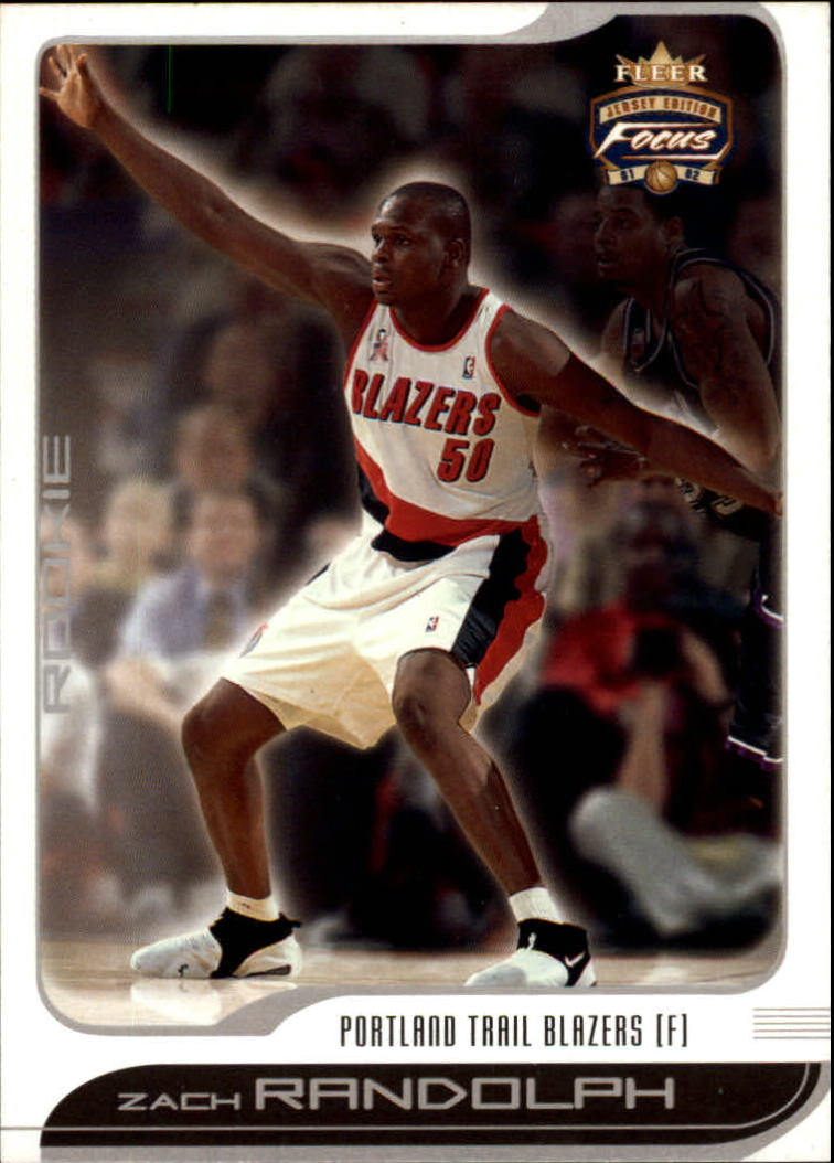 2001-02 Fleer Focus #102 Zach Randolph RC
