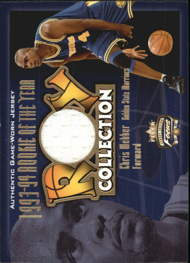 2001-02 Fleer Focus ROY Collection Jerseys #3 Chris Webber