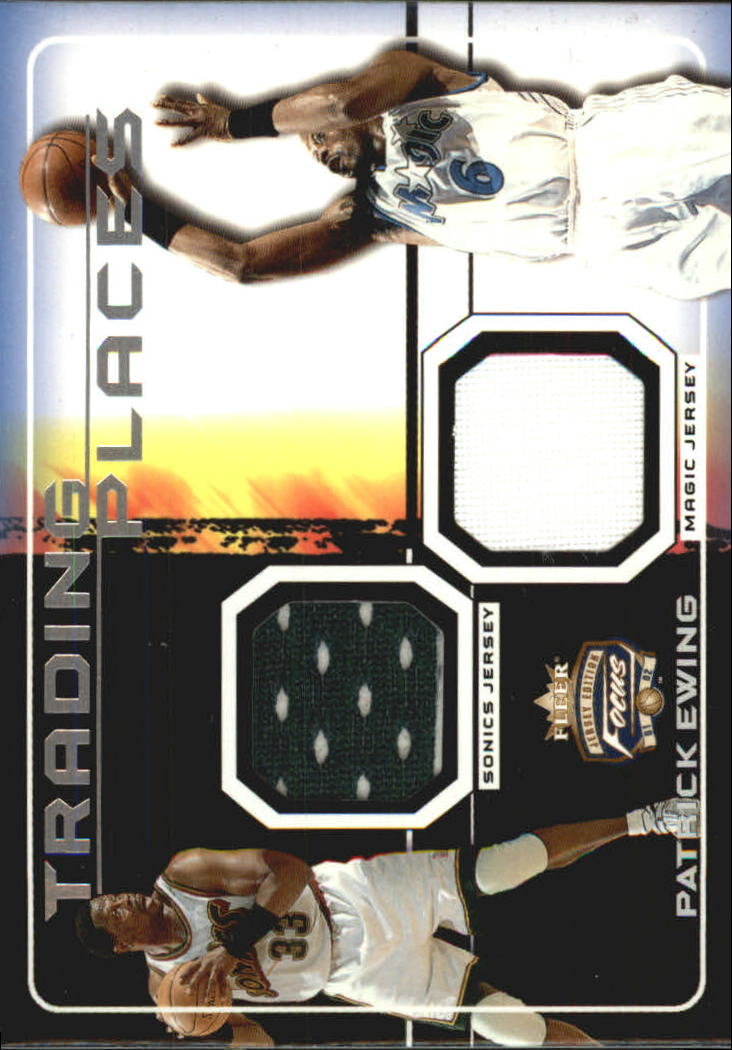 2001-02 Fleer Focus Trading Places Jerseys #2 Patrick Ewing
