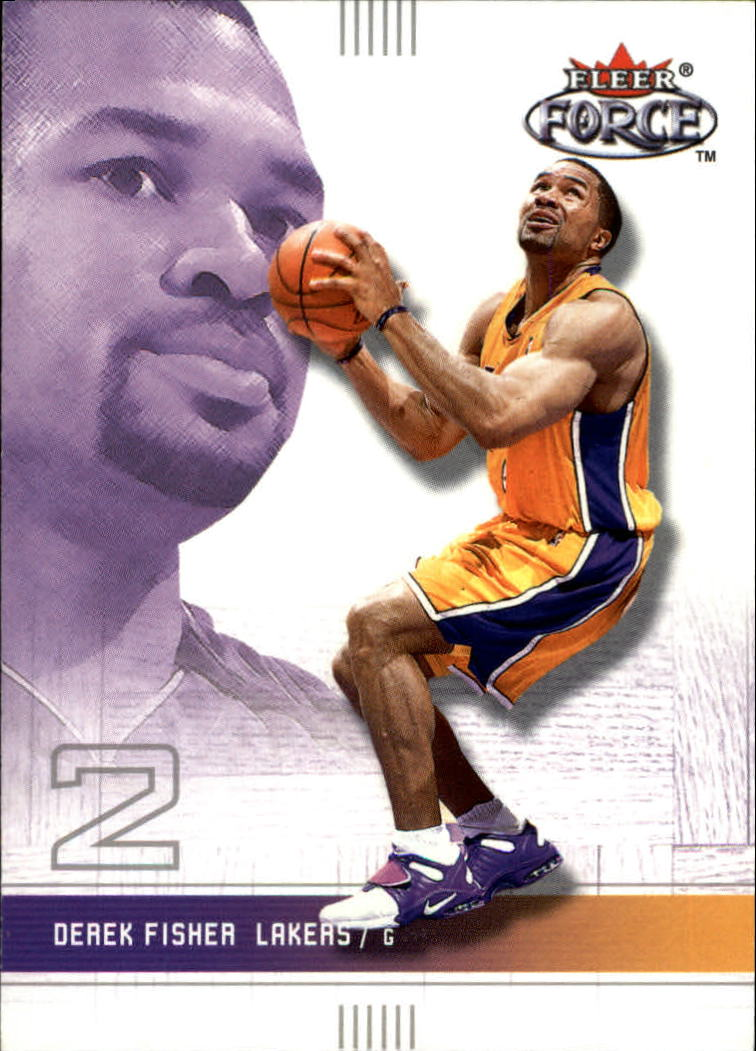 2001-02 Fleer Force #40 Derek Fisher