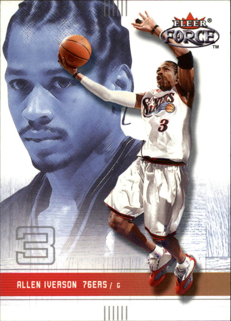 2001-02 Fleer Force #42 Allen Iverson