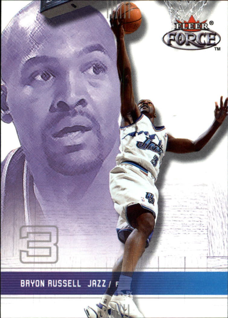 2001-02 Fleer Force #134 Bryon Russell