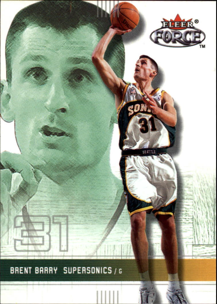 2001-02 Fleer Force #140 Brent Barry