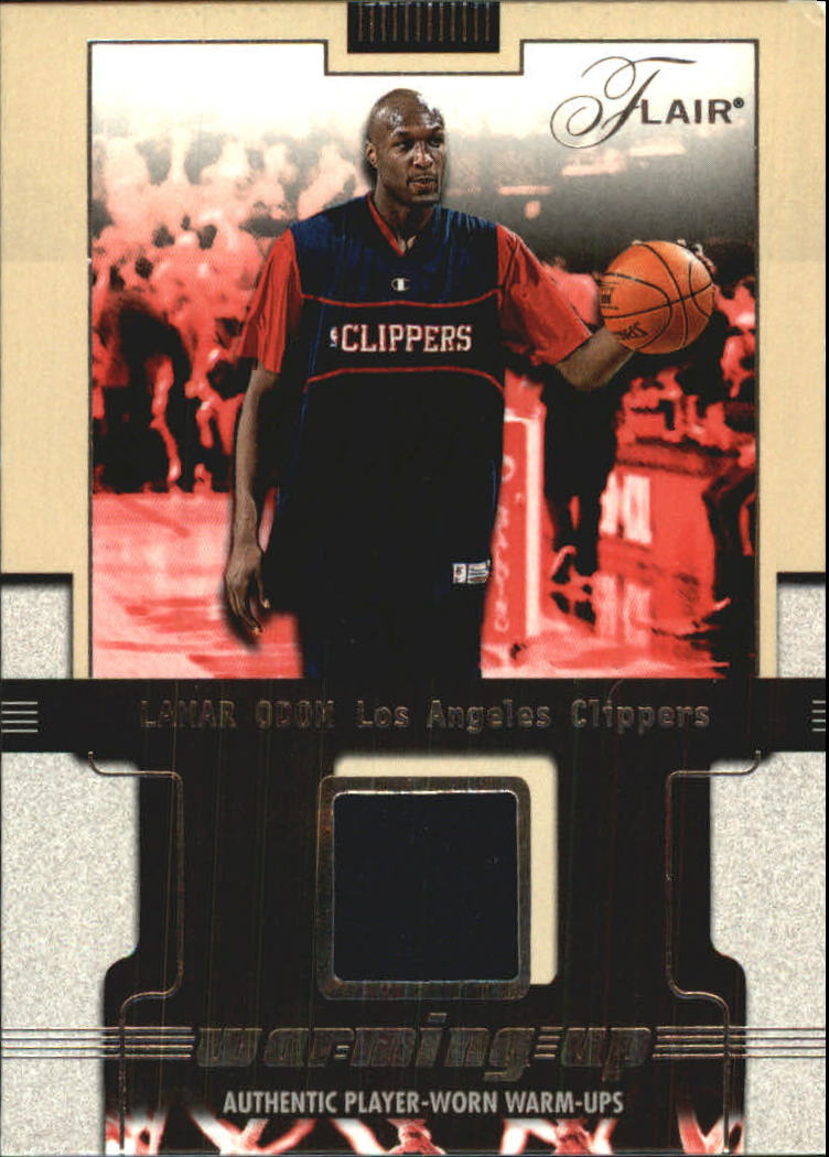 2001-02 Flair Warming Up #7 Lamar Odom